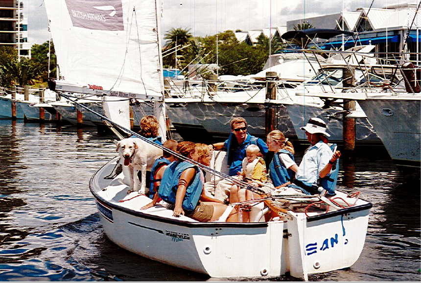 Horgan with a group of program participants in 1996