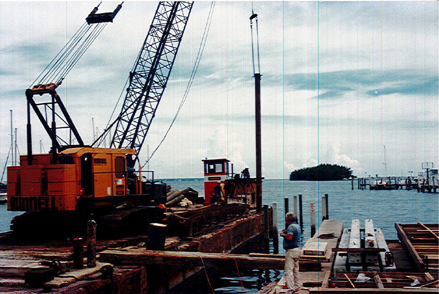 Building of the dock when SALM was first started in 1990